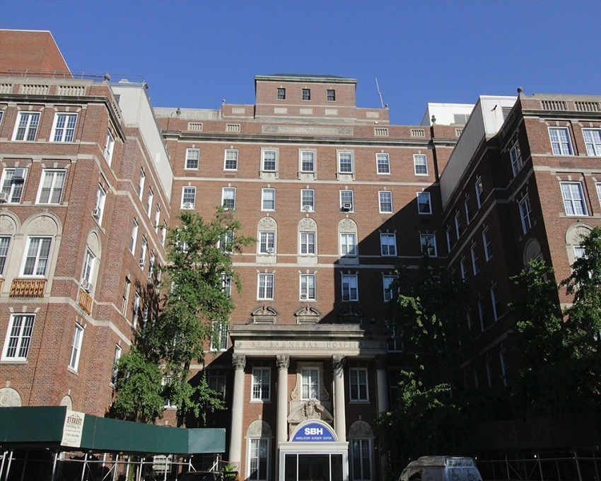 Front view of St. Barnabas Hospital | New York office O'Donnell & Naccarato | O'Donnell & Naccarato