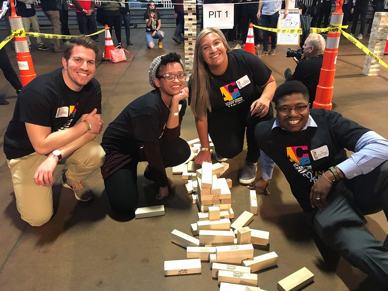 Image of O'Donnell & Naccarato's team at ACEPhilly Giant Jenga Tournament 2020 | structural firm | O'Donnell & Naccarato